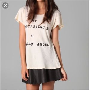My Boyfriends A Hell's Angel Wildfox Tee